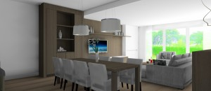 Interieurarchitect Stefanie Coninx 3D modern TV Project  J 2
