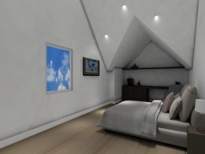Interieurarchitect Stefanie Coninx 3D modern slaapkamer Project  M 3
